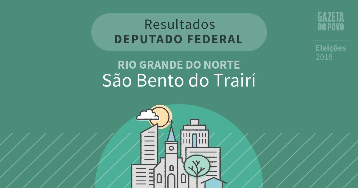 Resultados para Deputado Federal no Rio Grande do Norte em São Bento do Trairí (RN)