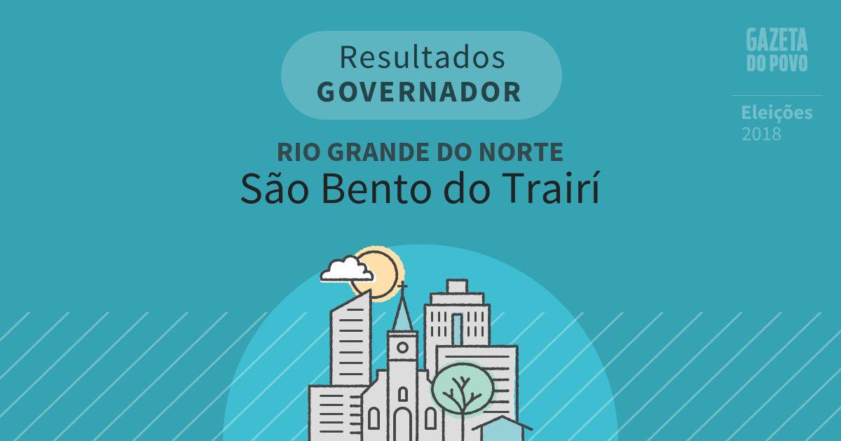 Resultados para Governador no Rio Grande do Norte em São Bento do Trairí (RN)