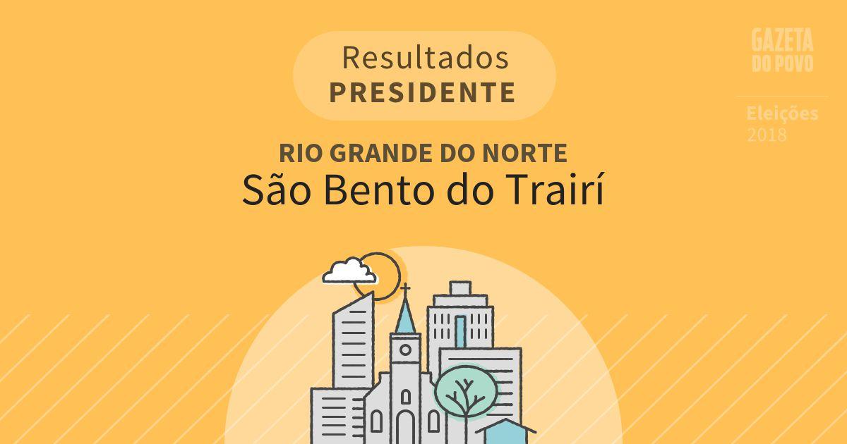Resultados para Presidente no Rio Grande do Norte em São Bento do Trairí (RN)