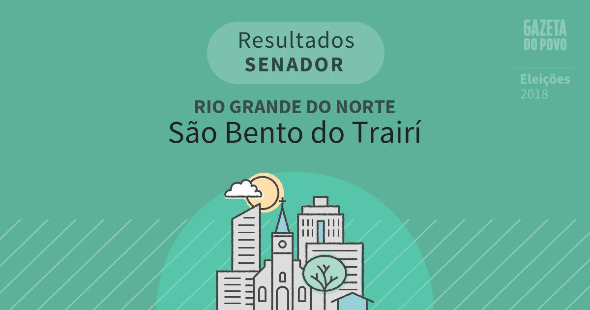 Resultados para Senador no Rio Grande do Norte em São Bento do Trairí (RN)