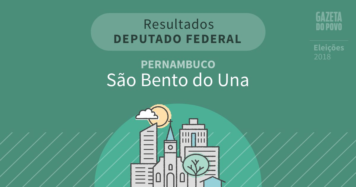 Resultados para Deputado Federal em Pernambuco em São Bento do Una (PE)