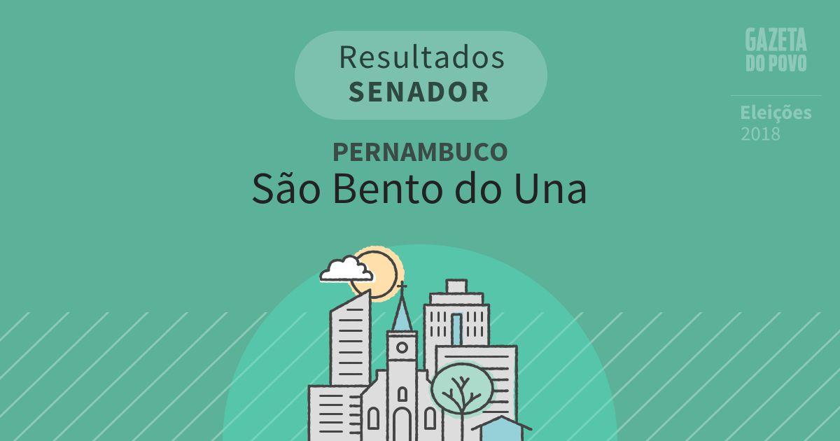 Resultados para Senador em Pernambuco em São Bento do Una (PE)