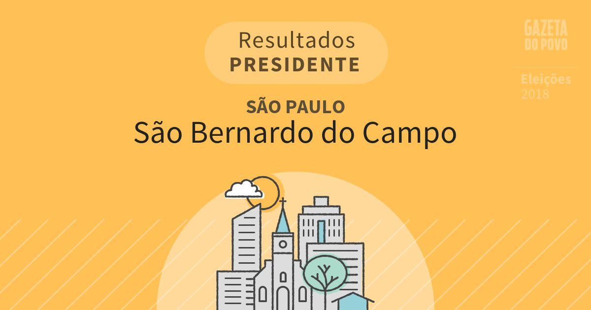 Resultados para Presidente em São Paulo em São Bernardo do Campo (SP)