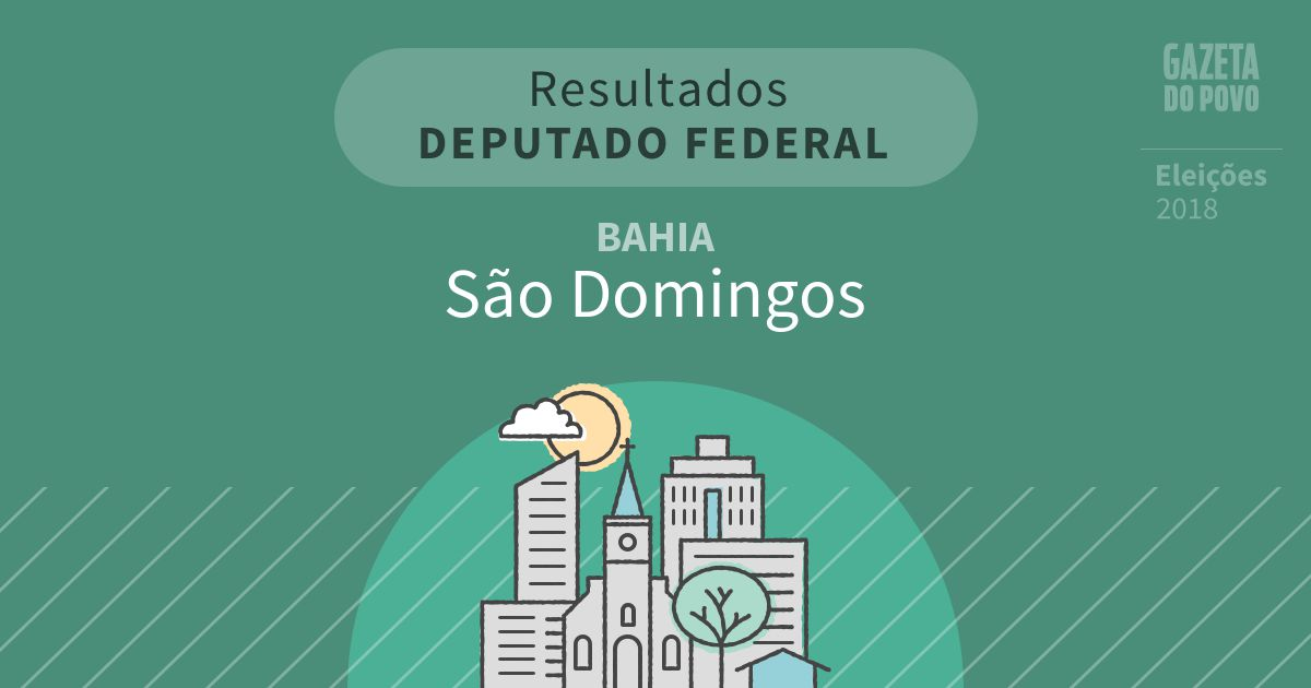 Resultados para Deputado Federal na Bahia em São Domingos (BA)