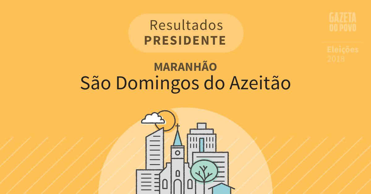 Resultados para Presidente no Maranhão em São Domingos do Azeitão (MA)