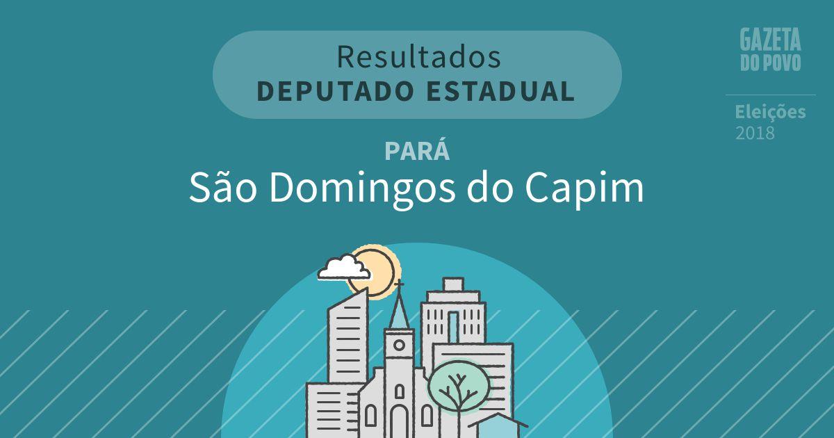 Resultados para Deputado Estadual no Pará em São Domingos do Capim (PA)