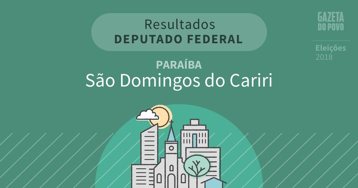 Resultados para Deputado Federal na Paraíba em São Domingos do Cariri (PB)