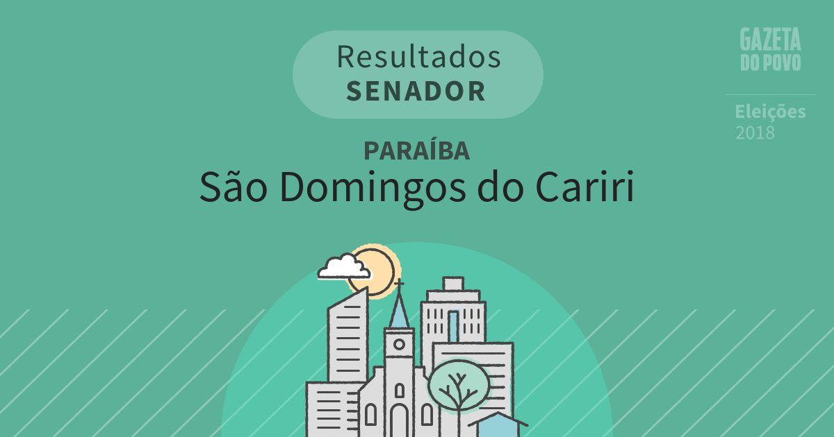 Resultados para Senador na Paraíba em São Domingos do Cariri (PB)