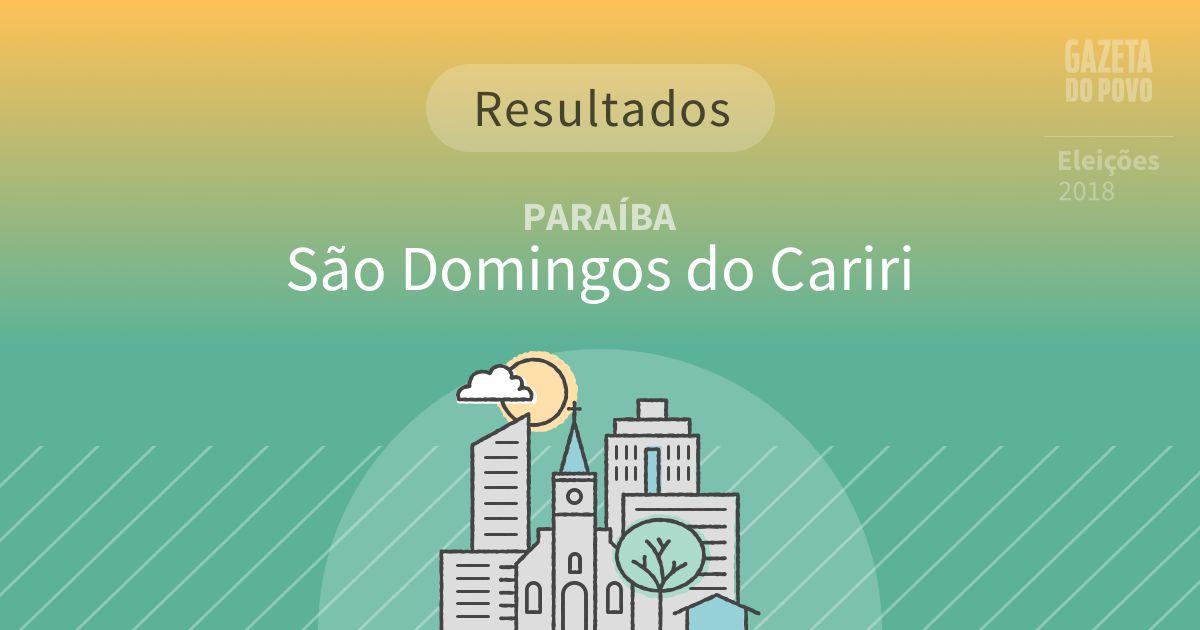Resultados da votação em São Domingos do Cariri (PB)