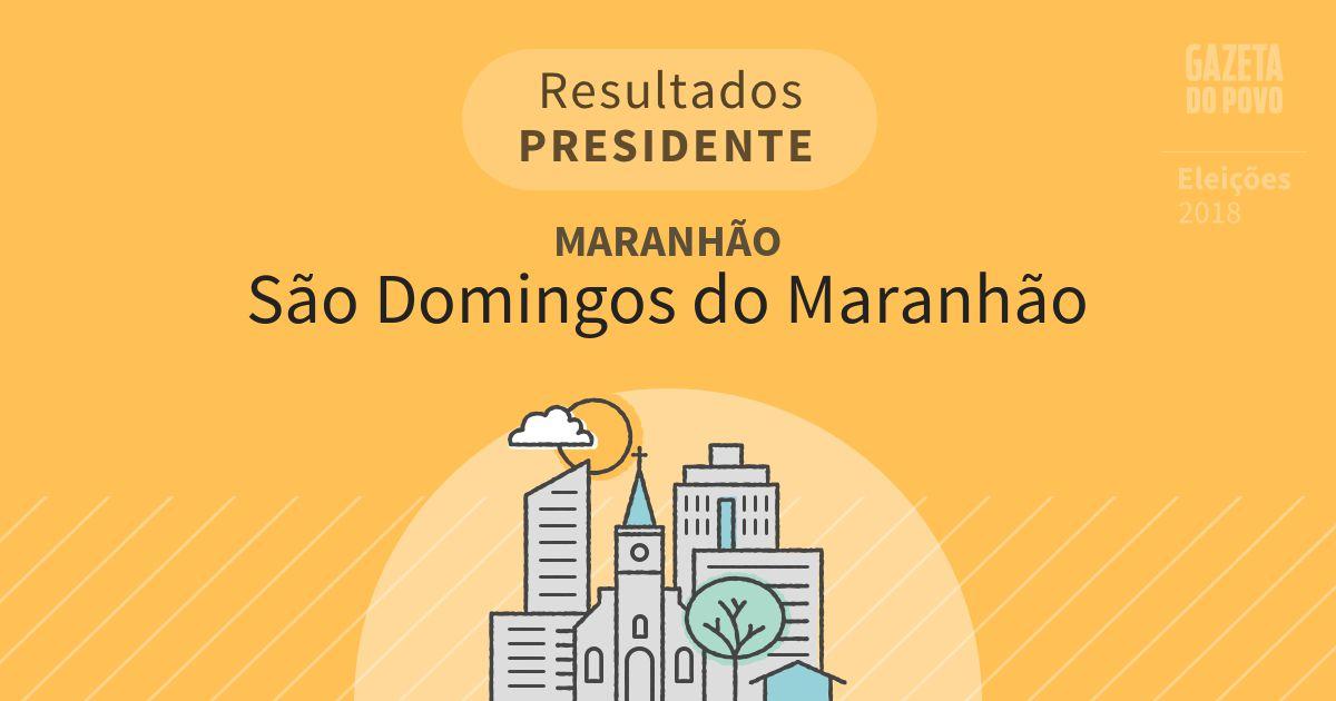 Resultados para Presidente no Maranhão em São Domingos do Maranhão (MA)