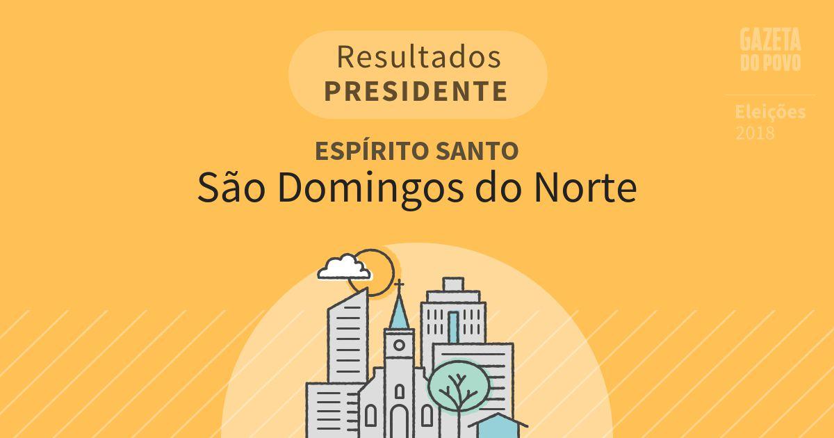 Resultados para Presidente no Espírito Santo em São Domingos do Norte (ES)