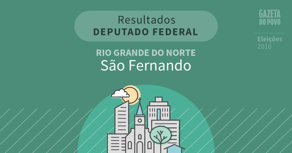 Resultados para Deputado Federal no Rio Grande do Norte em São Fernando (RN)
