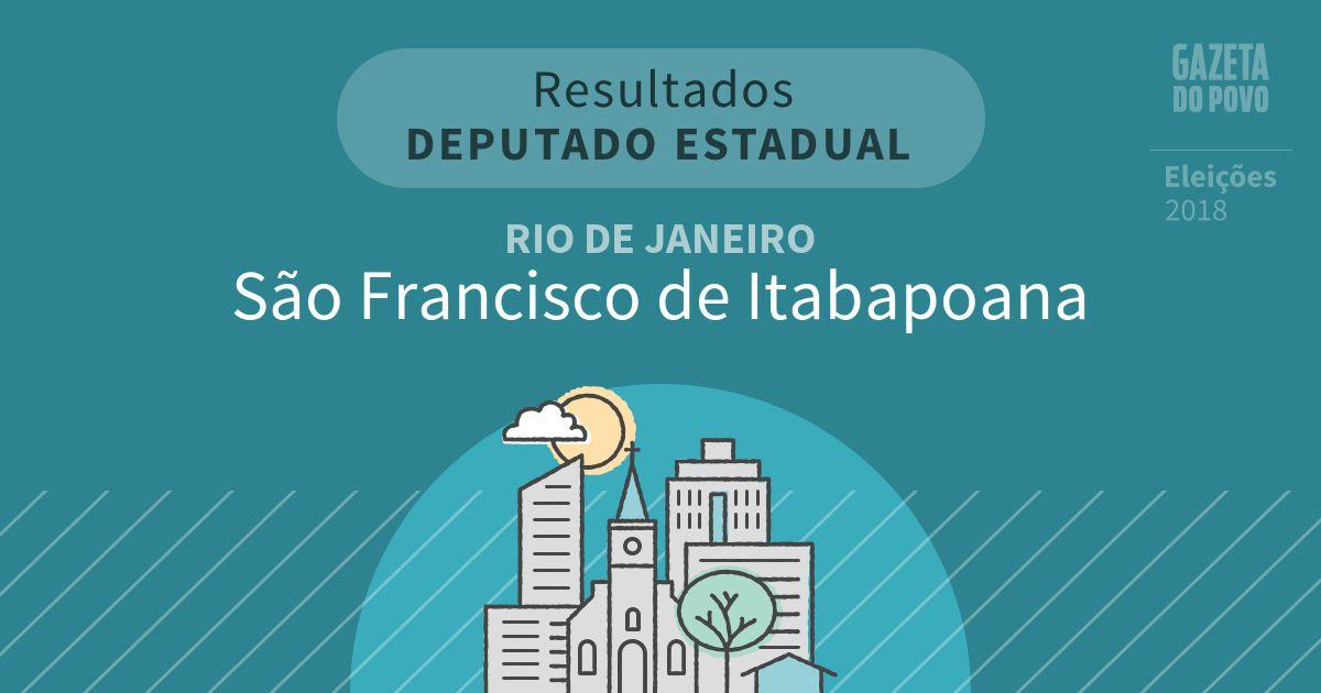 Resultados para Deputado Estadual no Rio de Janeiro em São Francisco de Itabapoana (RJ)