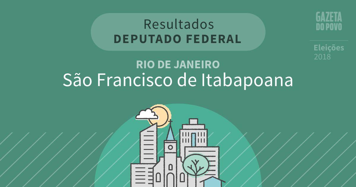 Resultados para Deputado Federal no Rio de Janeiro em São Francisco de Itabapoana (RJ)
