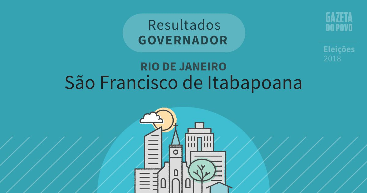Resultados para Governador no Rio de Janeiro em São Francisco de Itabapoana (RJ)