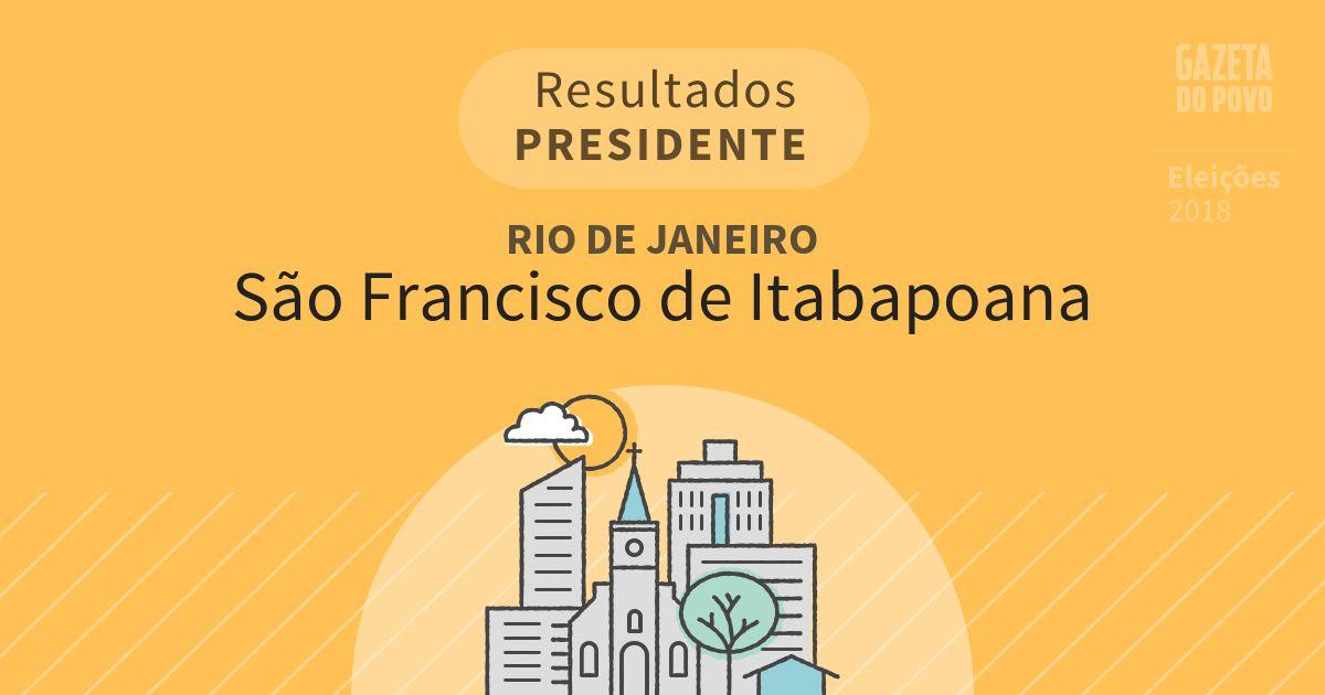 Resultados para Presidente no Rio de Janeiro em São Francisco de Itabapoana (RJ)