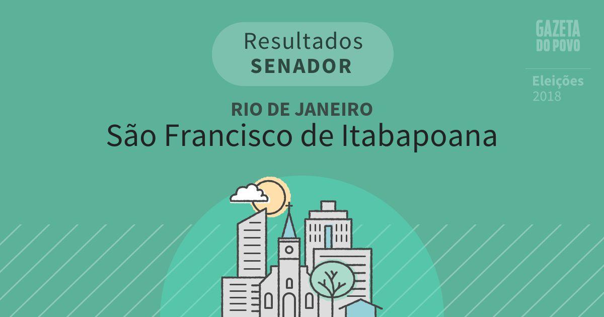 Resultados para Senador no Rio de Janeiro em São Francisco de Itabapoana (RJ)