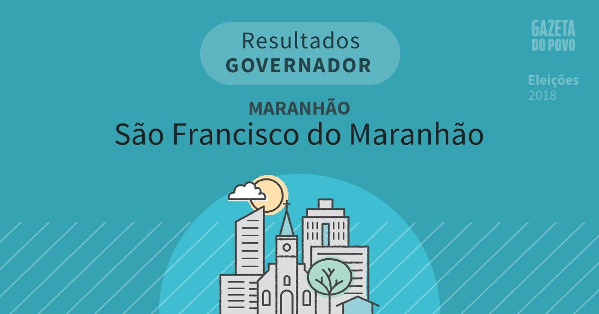 Resultados para Governador no Maranhão em São Francisco do Maranhão (MA)