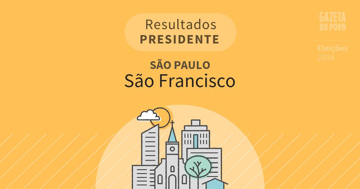 Resultados para Presidente em São Paulo em São Francisco (SP)