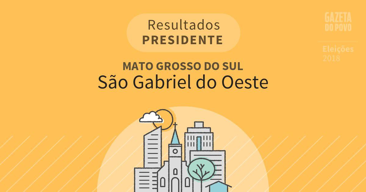 Resultados para Presidente no Mato Grosso do Sul em São Gabriel do Oeste (MS)