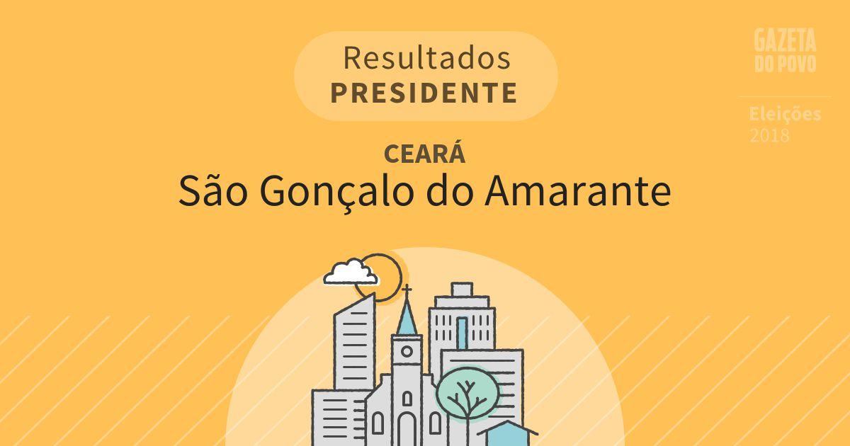 Resultados para Presidente no Ceará em São Gonçalo do Amarante (CE)