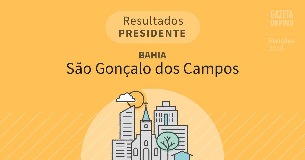 Resultados para Presidente na Bahia em São Gonçalo dos Campos (BA)