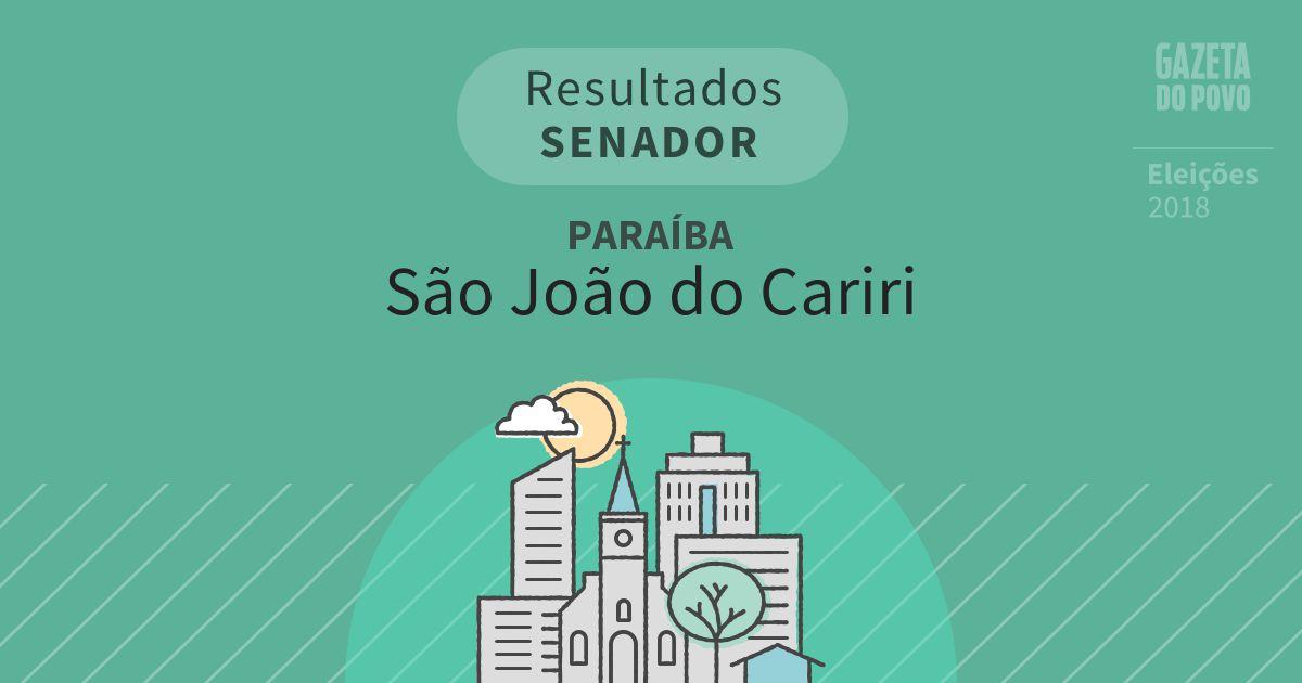 Resultados para Senador na Paraíba em São João do Cariri (PB)