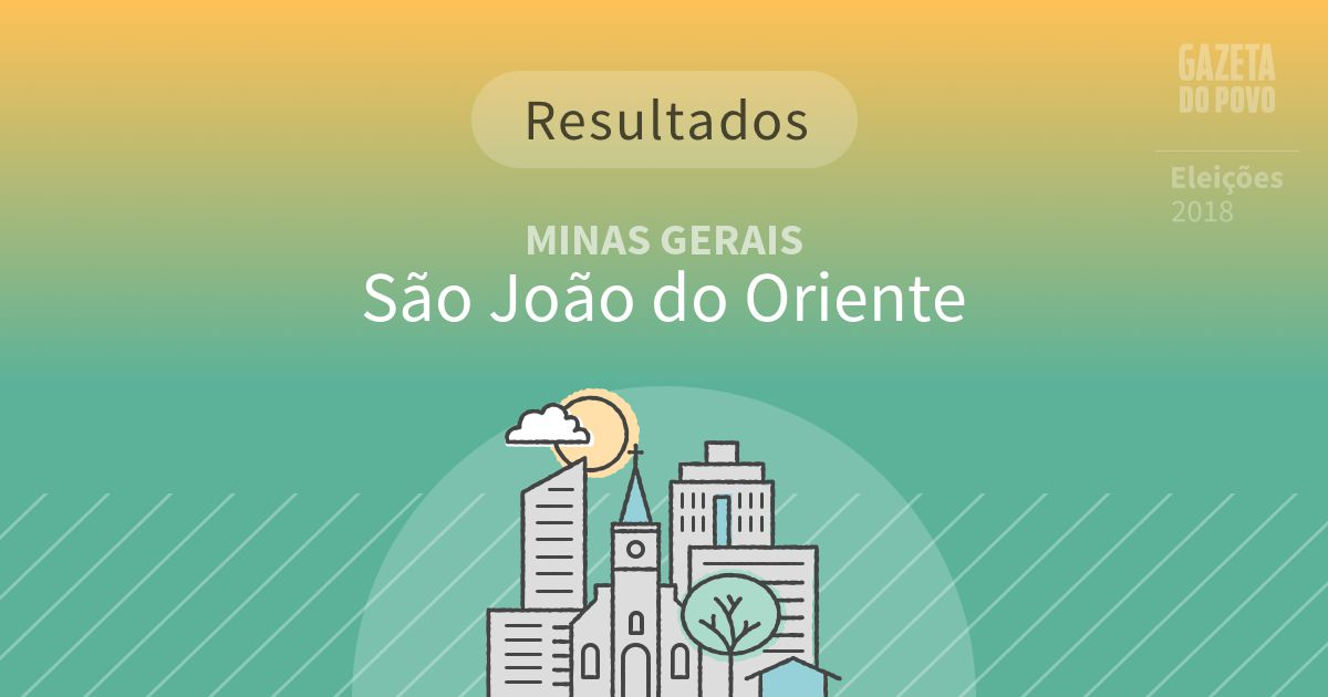 Resultados da votação em São João do Oriente (MG)