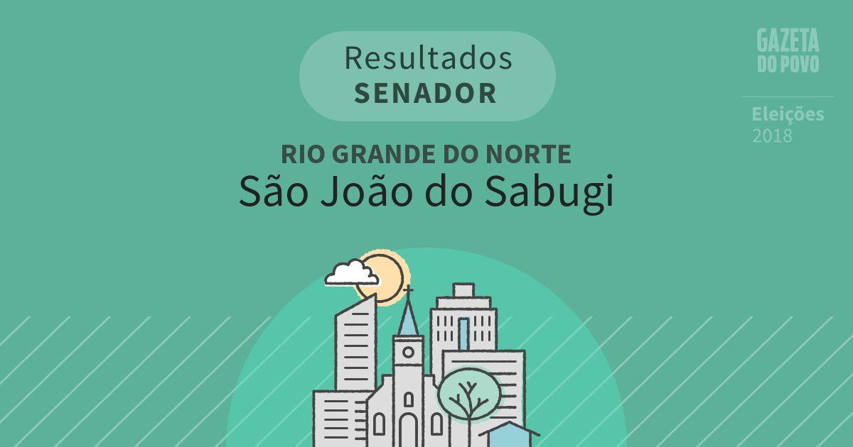 Resultados para Senador no Rio Grande do Norte em São João do Sabugi (RN)