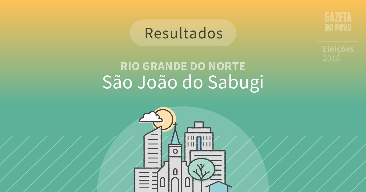Resultados da votação em São João do Sabugi (RN)
