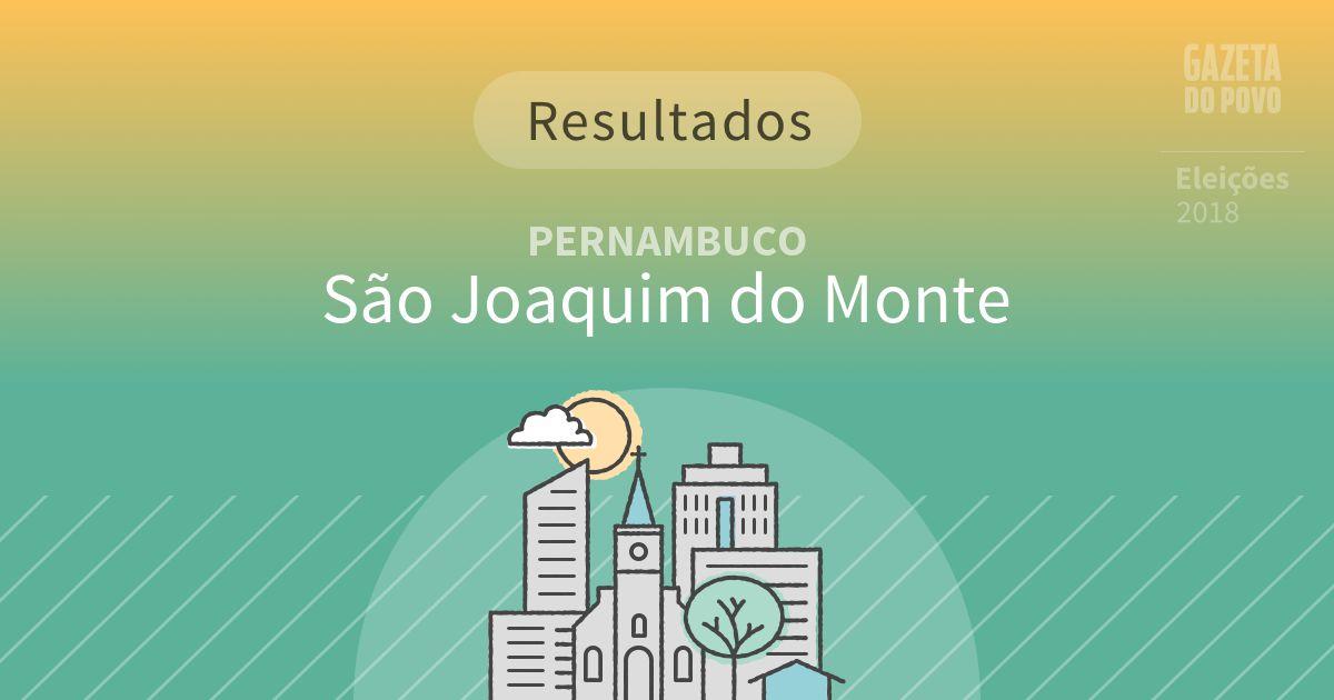 Resultados da votação em São Joaquim do Monte (PE)
