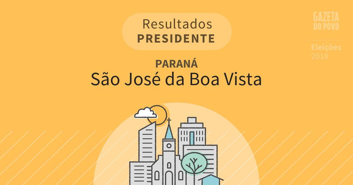 Resultados para Presidente no Paraná em São José da Boa Vista (PR)