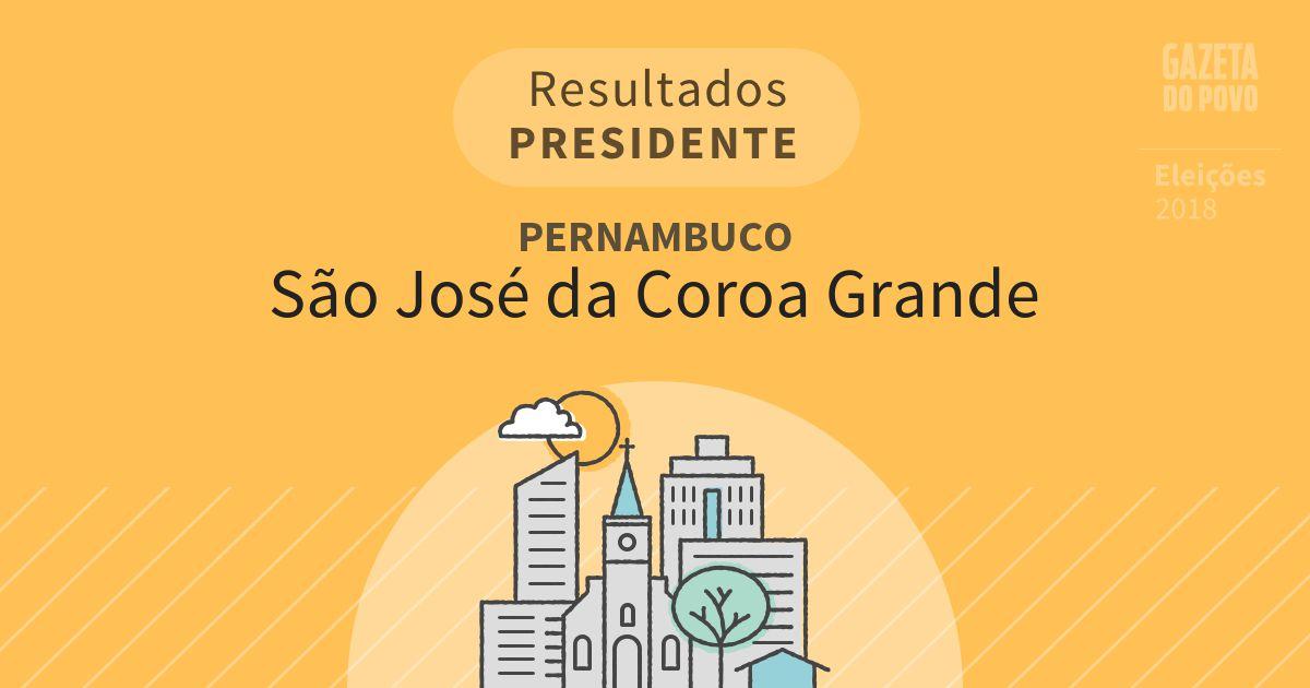 Resultados para Presidente em Pernambuco em São José da Coroa Grande (PE)