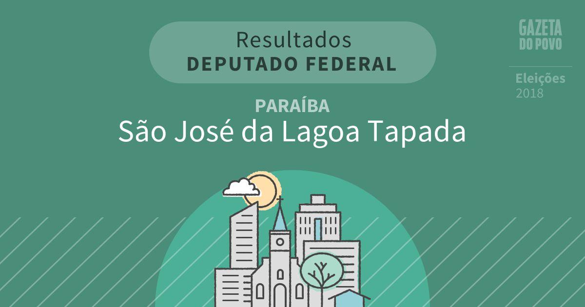 Resultados para Deputado Federal na Paraíba em São José da Lagoa Tapada (PB)