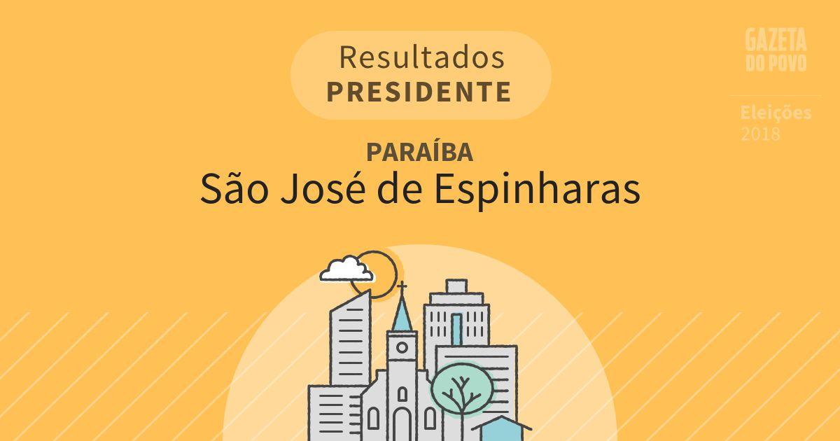 Resultados para Presidente na Paraíba em São José de Espinharas (PB)