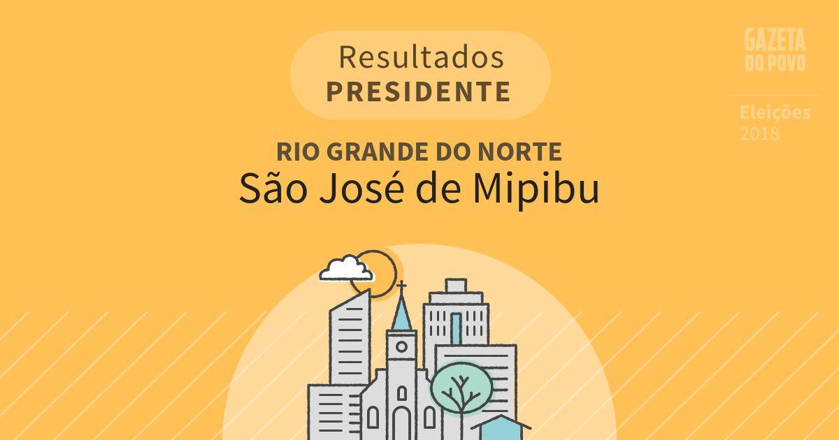 Resultados para Presidente no Rio Grande do Norte em São José de Mipibu (RN)