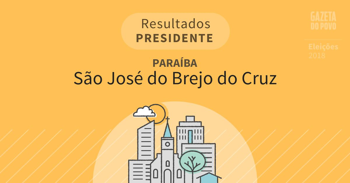 Resultados para Presidente na Paraíba em São José do Brejo do Cruz (PB)