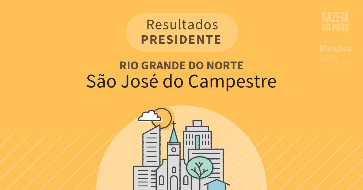 Resultados para Presidente no Rio Grande do Norte em São José do Campestre (RN)