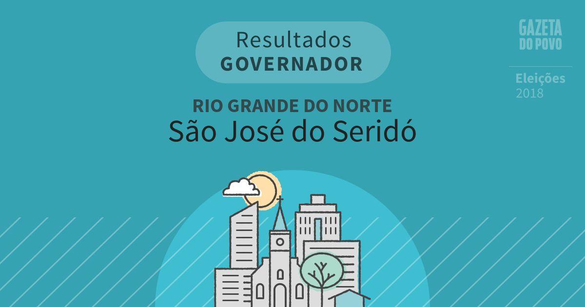 Resultados para Governador no Rio Grande do Norte em São José do Seridó (RN)