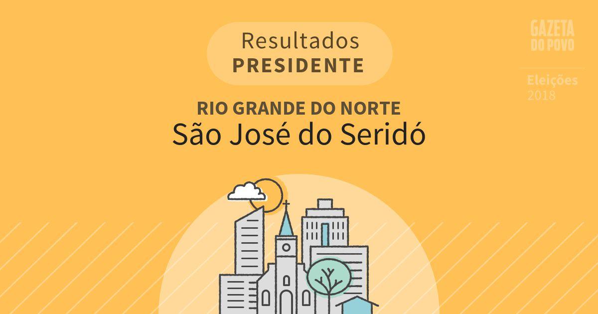Resultados para Presidente no Rio Grande do Norte em São José do Seridó (RN)