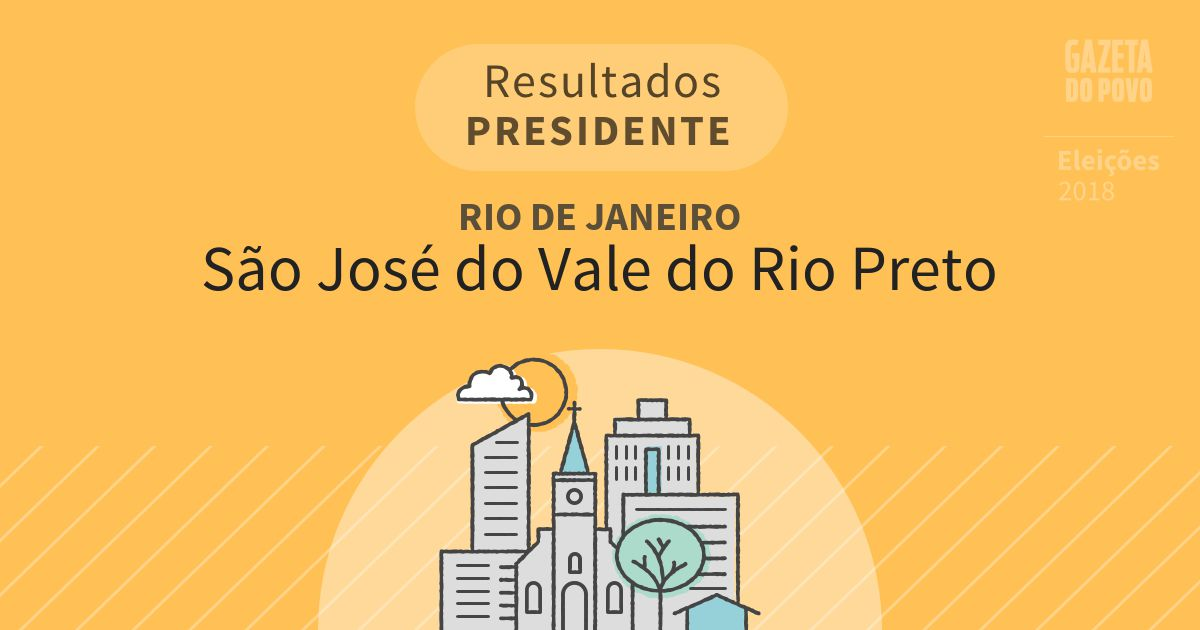 Resultados para Presidente no Rio de Janeiro em São José do Vale do Rio Preto (RJ)