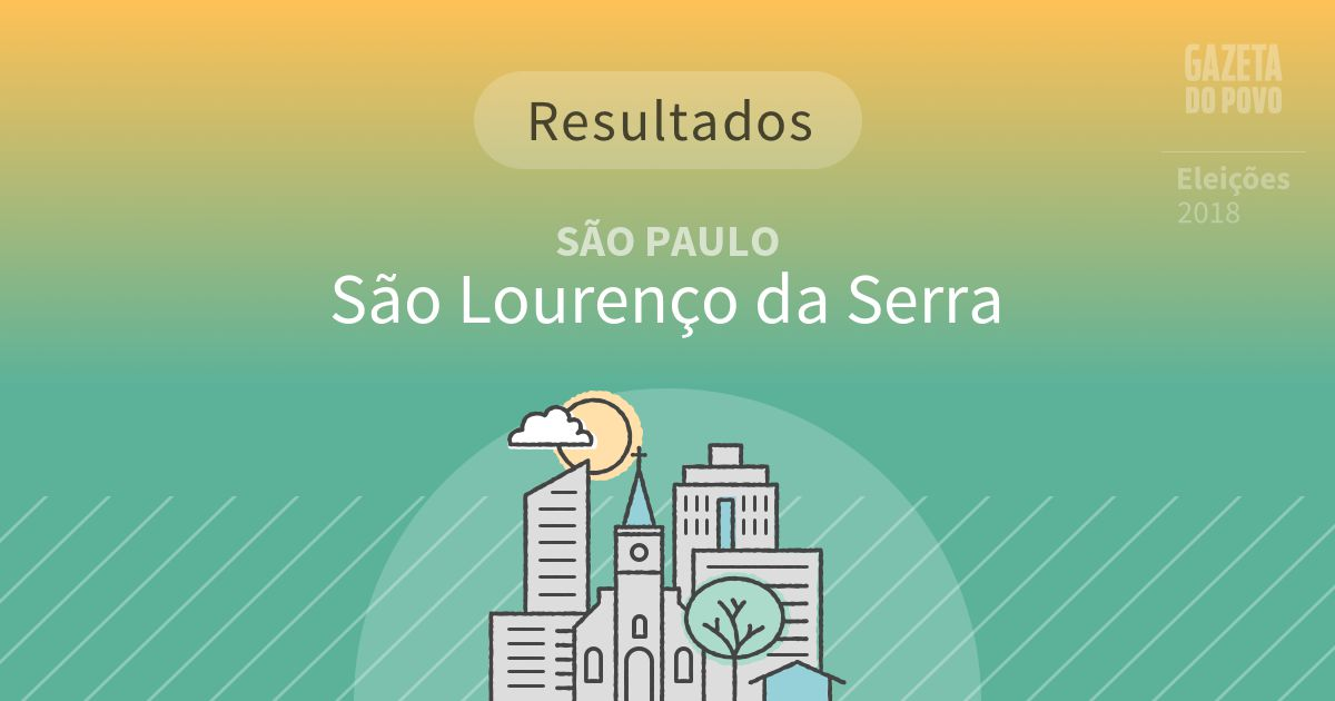 Resultados da votação em São Lourenço da Serra (SP)