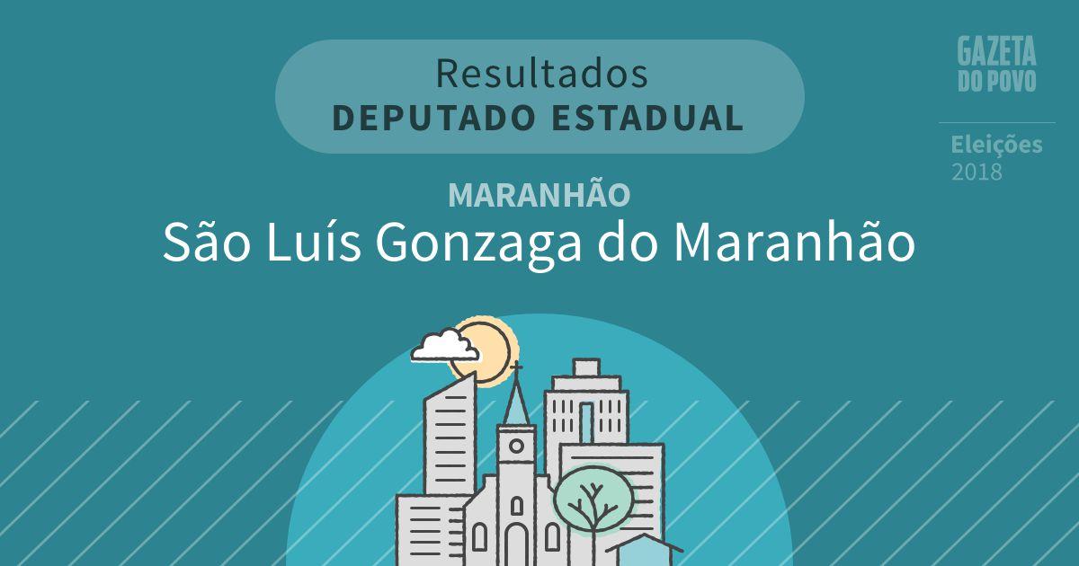 Resultados para Deputado Estadual no Maranhão em São Luís Gonzaga do Maranhão (MA)