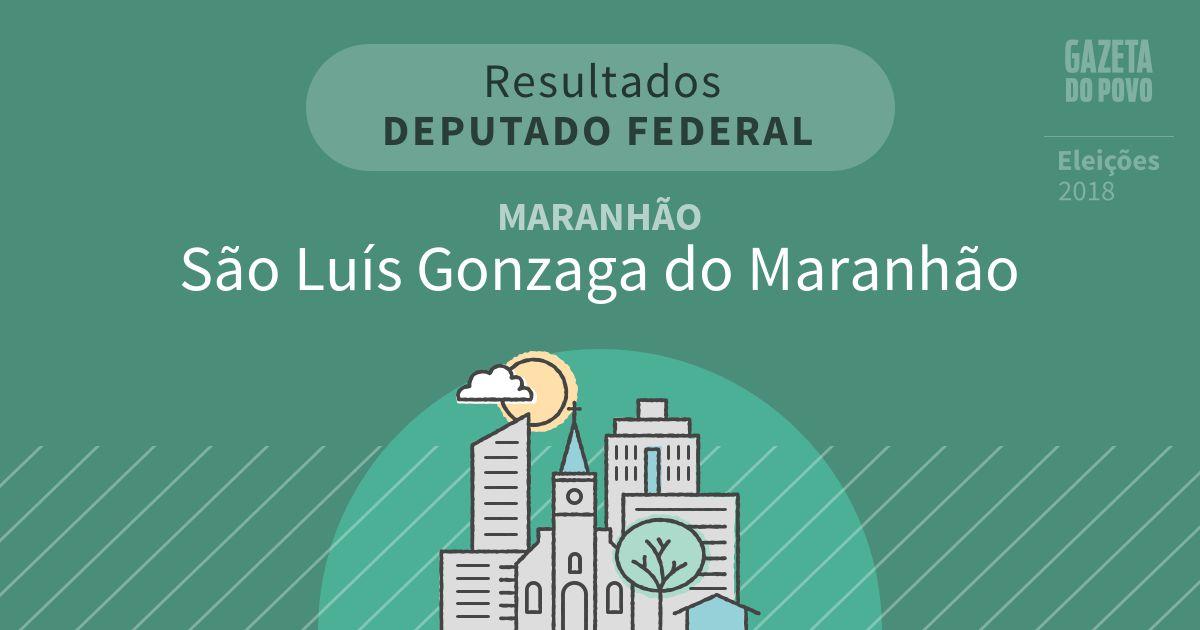 Resultados para Deputado Federal no Maranhão em São Luís Gonzaga do Maranhão (MA)