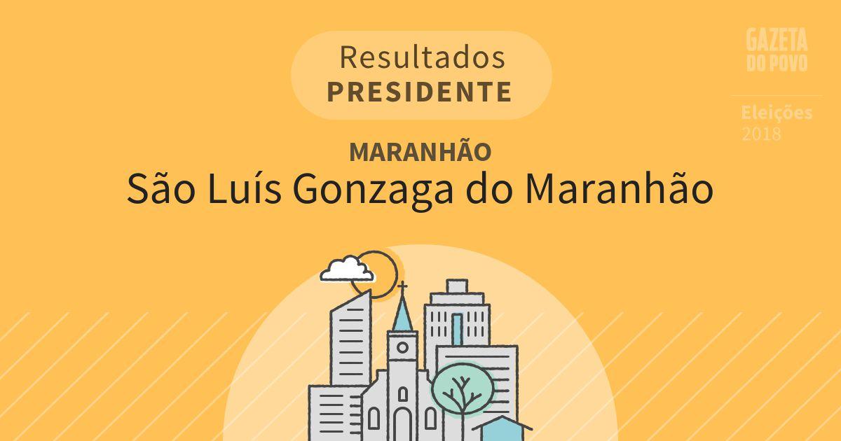 Resultados para Presidente no Maranhão em São Luís Gonzaga do Maranhão (MA)