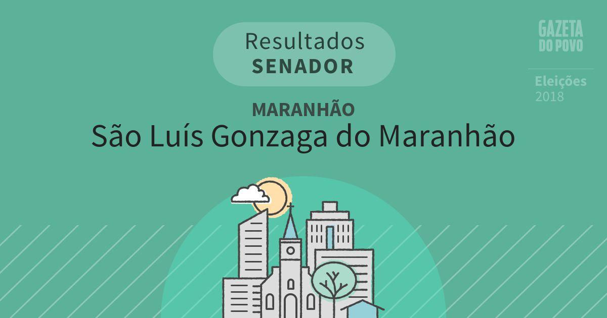 Resultados para Senador no Maranhão em São Luís Gonzaga do Maranhão (MA)