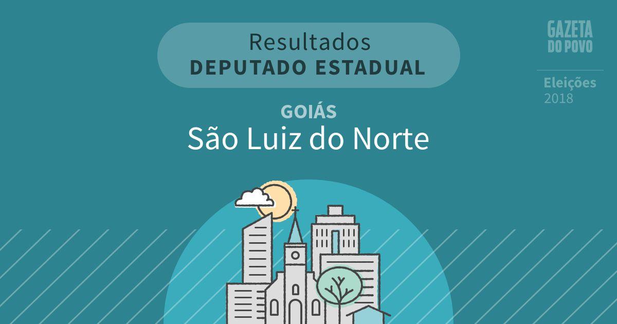 Resultados para Deputado Estadual em Goiás em São Luiz do Norte (GO)