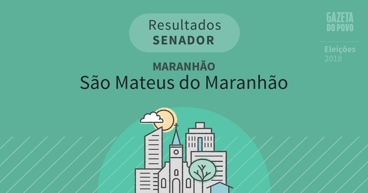 Resultados para Senador no Maranhão em São Mateus do Maranhão (MA)
