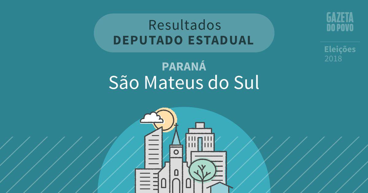 Resultados para Deputado Estadual no Paraná em São Mateus do Sul (PR)