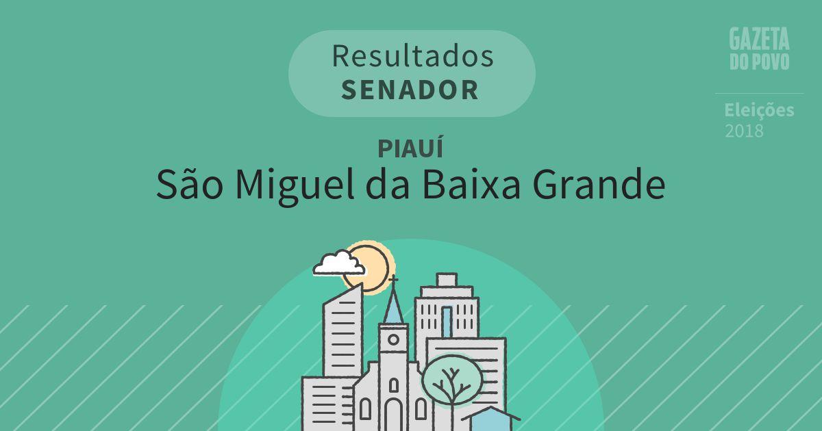 Resultados para Senador no Piauí em São Miguel da Baixa Grande (PI)